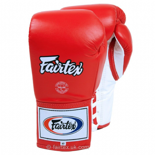 Fairtex Lace-Up Competition Gloves - Red